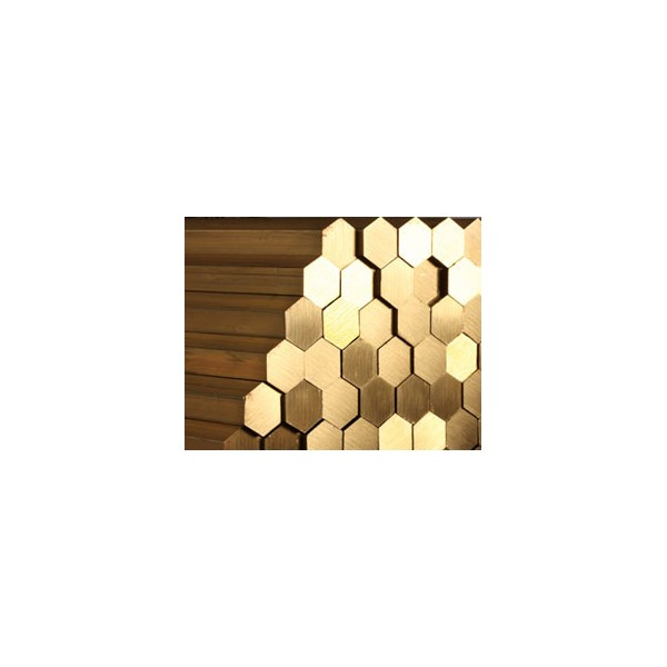 Bare bronz hexagonale